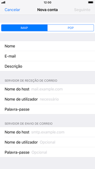 Apple iPhone 8 Plus - iOS 12 - Email - Configurar a conta de Email -  11
