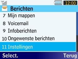 Samsung S3570 Chat 357 - Voicemail - Handmatig instellen - Stap 4