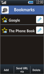 Samsung S5620 Monte - Internet - Internet browsing - Step 10