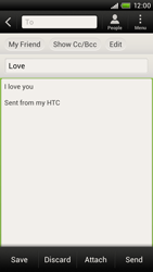 HTC S720e One X - Email - Sending an email message - Step 9