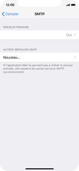 Apple iPhone X - iOS 12 - E-mail - Configuration manuelle - Étape 20