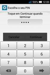 Alcatel POP C1 - Segurança - Como ativar o código de bloqueio do ecrã -  8