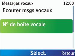 Nokia C3-00 - Messagerie vocale - configuration manuelle - Étape 7