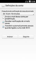 Huawei Ascend Y625 - Email - Adicionar conta de email -  8