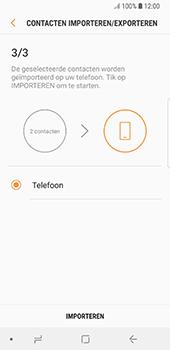 Samsung Galaxy S8 - Android Oreo (SM-G950F) - Contacten en data - Contacten kopiëren van SIM naar toestel - Stap 12