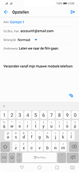 Huawei mate-20-lite-dual-sim-model-sne-lx1 - E-mail - Hoe te versturen - Stap 8