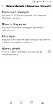 LG K12+ - Chamadas - Como bloquear chamadas de um número específico - Etapa 5