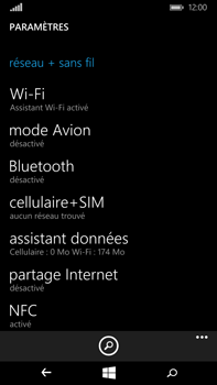 Microsoft Lumia 640 XL - WiFi et Bluetooth - Configuration manuelle - Étape 4