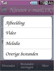 Samsung S7070 Diva - E-mail - E-mails verzenden - Stap 11