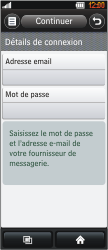 LG BL40 New Chocolate - E-mail - Configuration manuelle - Étape 5