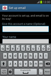 Samsung S6810P Galaxy Fame - E-mail - Manual configuration - Step 19