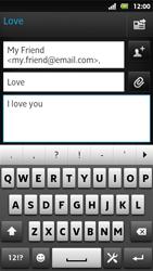 Sony MT27i Xperia Sola - E-mail - Sending emails - Step 9