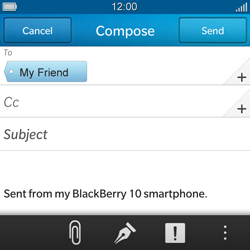 BlackBerry Q5 - Email - Sending an email message - Step 9