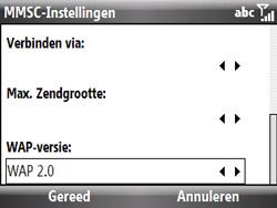 HTC S521 Snap - MMS - Handmatig instellen - Stap 17