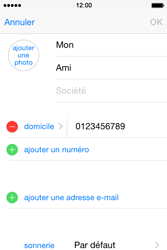 Apple iPhone 4S (iOS 8) - Contact, Appels, SMS/MMS - Ajouter un contact - Étape 12