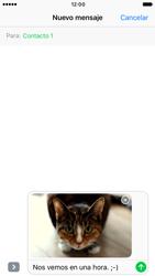 Apple iPhone 6s iOS 10 - Mensajería - Escribir y enviar un mensaje multimedia - Paso 15