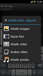 Sony Xperia J - Mensajería - Escribir y enviar un mensaje multimedia - Paso 14