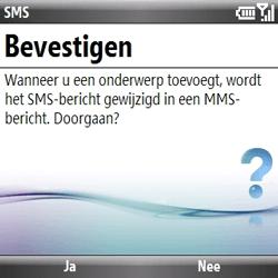 Samsung B7330 Omnia Pro - MMS - hoe te versturen - Stap 9