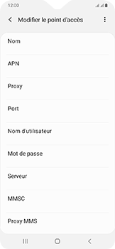 Samsung Galaxy A20e - MMS - configuration manuelle - Étape 11