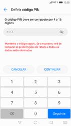 Huawei P9 Lite - Android Nougat - Segurança - Como ativar o código de bloqueio do ecrã -  7