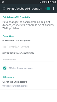 HTC Desire 825 - Internet et connexion - Partager votre connexion en Wi-Fi - Étape 16