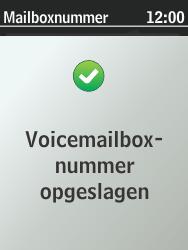Nokia 301-1 - Voicemail - Handmatig instellen - Stap 9