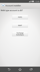 Sony D6503 Xperia Z2 - E-mail - Handmatig instellen - Stap 7
