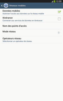 Samsung Galaxy Tab 3 8 4G - Internet et connexion - Désactiver la connexion Internet - Étape 6