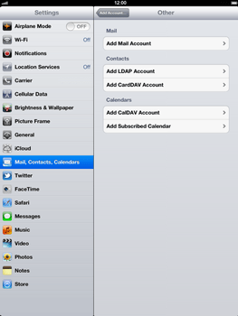 Apple The New iPad - E-mail - Manual configuration - Step 6