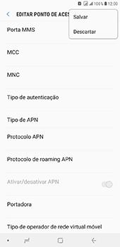 Samsung Galaxy J8 - Internet (APN) - Como configurar a internet do seu aparelho (APN Nextel) - Etapa 16