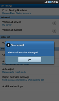 Samsung P1000 Galaxy Tab - Voicemail - Manual configuration - Step 7