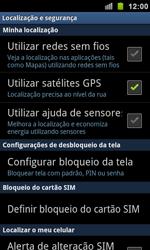 Samsung Galaxy S II - Segurança - Como ativar e desativar um código para bloqueio de tela do seu celular - Etapa 5