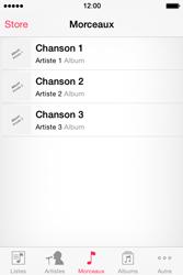 Apple iPhone 4S (iOS 8) - Photos, vidéos, musique - Ecouter de la musique - Étape 4