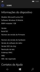 Microsoft Lumia 550 - Primeiros passos - Como encontrar o número de IMEI do seu aparelho - Etapa 7
