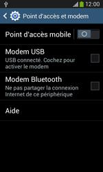 Samsung Galaxy Ace 3 - Internet et connexion - Utiliser le mode modem par USB - Étape 7