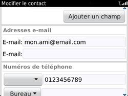 BlackBerry 9720 - Contact, Appels, SMS/MMS - Ajouter un contact - Étape 12