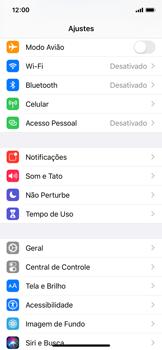 Apple iPhone X - iOS 13 - Rede móvel - Como ativar e desativar o modo avião no seu aparelho - Etapa 3