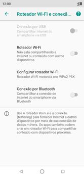 Motorola One - Wi-Fi - Como usar seu aparelho como um roteador de rede wi-fi - Etapa 8