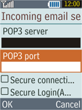 Samsung B2100 Xplorer - E-mail - Manual configuration - Step 19