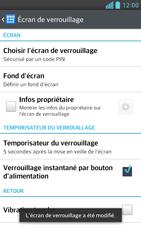 LG Optimus F6 - Sécuriser votre mobile - Activer le code de verrouillage - Étape 10