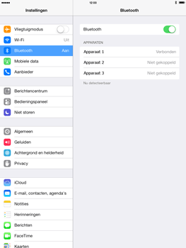 Apple iPad 4th generation (Retina) met iOS 7 - Bluetooth - Headset, carkit verbinding - Stap 7