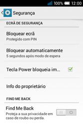 Alcatel POP C1 - Segurança - Como ativar o código de bloqueio do ecrã -  11