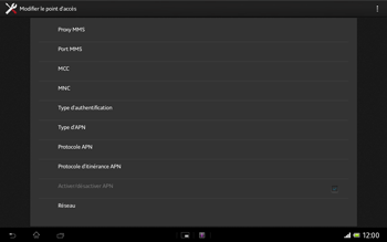 Sony SGP321 Xperia Tablet Z LTE - Mms - Configuration manuelle - Étape 15