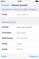 Apple iPhone 4S met iOS 8 (Model A1387) - Applicaties - Account aanmaken - Stap 21