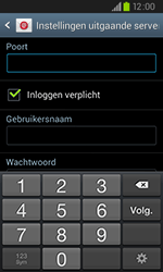 Samsung I9105P Galaxy S II Plus - E-mail - handmatig instellen - Stap 12
