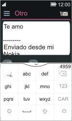 Nokia Asha 311 - E-mail - Escribir y enviar un correo electrónico - Paso 11