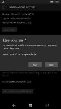 Microsoft Lumia 950 XL - Device maintenance - Retour aux réglages usine - Étape 9