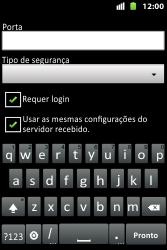 Huawei U8667 - Email - Como configurar seu celular para receber e enviar e-mails - Etapa 13