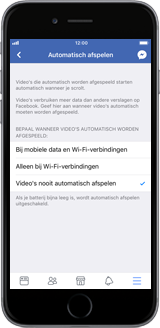 Apple iPhone 6 - iOS 11 - apps - deactiveer automatisch afspelen in Facebook - stap 10