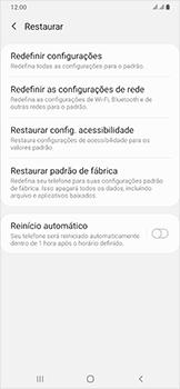Samsung Galaxy A50 - Funções básicas - Como restaurar as configurações originais do seu aparelho - Etapa 6